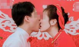 Hình ảnh chú rể hôn như muốn 'nuốt chửng' môi cô dâu hôn khiến dân mạng 'phát hoảng'