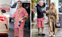 Justin Bieber diện đồ ngủ 'sến sẩm' xuống phố, sánh đôi cùng vợ mà như một cặp mẹ con