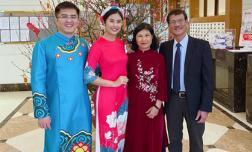 Hoa hậu Ngọc Hân chụp ảnh tình tứ bên chồng sắp cưới trong ngày đầu năm mới
