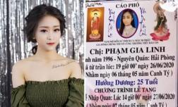 Diễn viên trẻ Phạm Gia Linh qua đời đột ngột ở tuổi 25