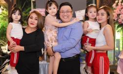 Sinh nhật diễn viên Gia Bảo, vợ cũ Hoài Lâm cùng 2 con mặc đồ 'tông xuyệt tông' đến dự