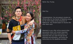 Diva Mỹ linh vui mừng khi con trai chính thức nhận thông báo đỗ vào trường đại học y ở Úc