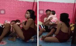 Chồng bế con nhỏ đến phòng trọ gặp bồ nhí, vợ đến nhẹ nhàng đòi đón con về còn bị dùng vũ lực