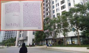 Vụ bé gái rơi từ tầng 39 chung cư ở Hà Nội: Lá thư tuyệt mệnh đầy xót xa