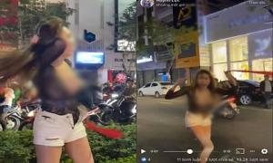 Mượn cớ ăn mừng Việt Nam vô địch SEA Games, gái xinh lột đồ quẩy trên phố gây bức xúc