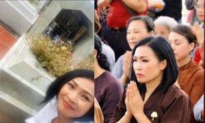 Nhân ngày giỗ 4 năm, ca sĩ Phương Thanh ra mộ thắp hương cho bố của con gái