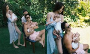 Hồ Ngọc Hà khoe ảnh cùng Kim Lý bế hai nhóc tỳ sinh đôi đi du lịch, fan ngỡ ngàng: 'Như ảnh tạp chí, quá đẹp'