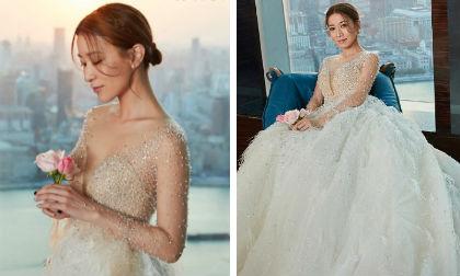 Khoác váy cưới quyến rũ, Xa Thi Mạn bị fan thúc giục kiếm người thương để sớm được làm cô dâu