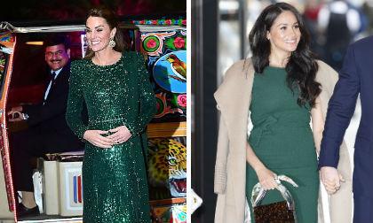 Cuộc cạnh tranh khốc liệt giữa 2 nàng dâu Hoàng gia Anh: Cùng diện đồ tông xanh nhưng phong cách khác biệt