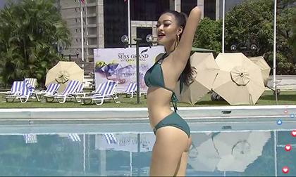 Á hậu Kiều Loan được chấm điểm 10 tuyệt đối, dẫn đầu phần thi bikini tại Hoa hậu Hòa bình Quốc tế 2019?
