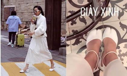 Diệu Nhi là sao Việt đầu tiên sở hữu đôi giày móng heo đang hot ở Hàn Quốc