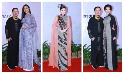 Dàn sao Việt diện áo dài nền nã đến chúc mừng NTK Võ Việt Chung