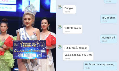 Ngân 98 bị tố mua giải Á hậu tại cuộc thi Hoa hậu ao làng