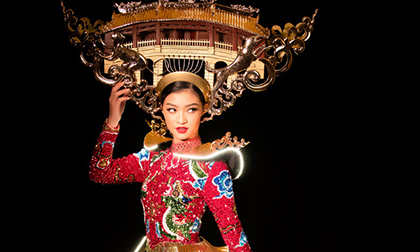 Lộ diện quốc phục của Á hậu Kiều Loan tại Miss Grand International