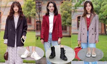 Mặc blazer ngày thu đông kết hợp với mẫu giày nào là đẹp và sành điệu nhất?