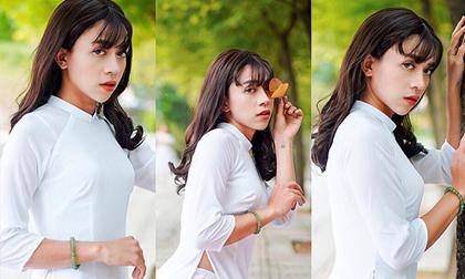 Diện áo dài trắng nữ sinh, diễn viên Chiêu Minh giả gái khiến hội chị em mê mẩn
