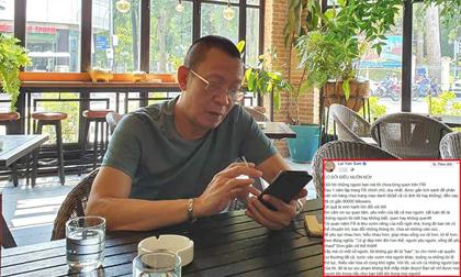 MC Lại Văn Sâm cảnh báo những người dùng lời lẽ thô tục, thiếu văn hóa trên Facebook của mình