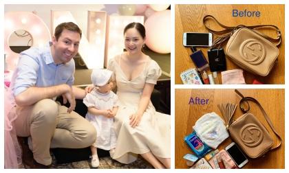 Lục túi Lan Phương khi làm mẹ bỉm sữa, liệu có gì khác thuở độc thân?