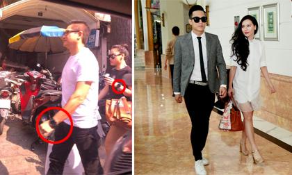 Lộ ảnh MC Minh Hà đi cùng trai lạ, đeo đồng hồ đôi
