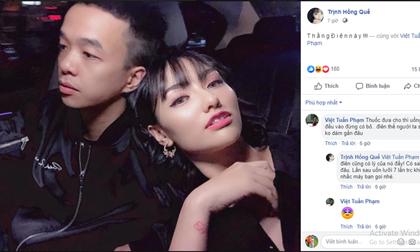 Hồng Quế đăng ảnh thân thiết bên bạn trai sau nghi án trục trặc, gọi là 'thằng điên này'