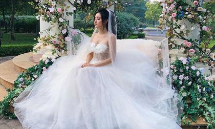 Bị hỏi bao giờ lấy chồng, Huyền My đăng ảnh cưới: 'giờ tui đi lấy thật đây'