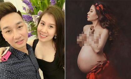 Bà xã đăng ảnh bán nude khoe bụng bầu, MC Thành Trung phản ứng: 'Cái gì đấy'
