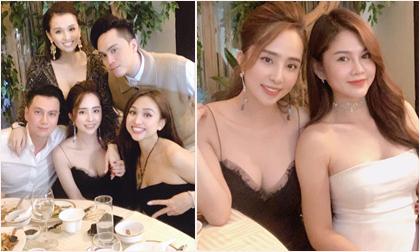 Quỳnh Nga sexy hết cỡ, thân thiết bên Việt Anh trong tiệc sinh nhật Lã Thanh Huyền