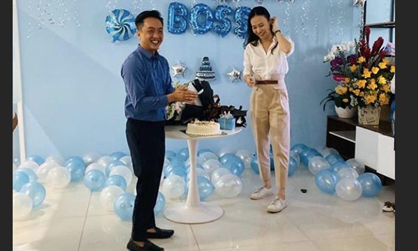 Đàm Thu Trang lần đầu để lộ vóc dáng sau tin đồn mang thai trong tiệc sinh nhật sớm do Cường Đô La tổ chức