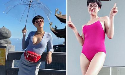 Chăm khoe vòng một căng đầy nhưng Trang Trần bị lộ vòng hai kém săn chắc