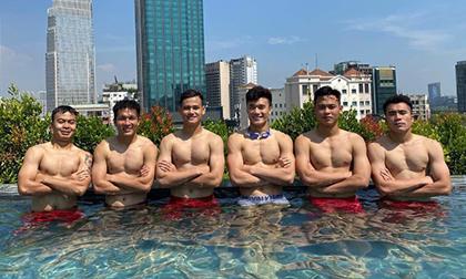 Dàn sao U22 Việt Nam khoe body 'cực phẩm' trước ngày lên đường dự SEA Games 30