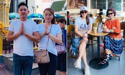 Đi du lịch cùng Thành Đạt, Hải Băng mặc đồ đơn giản, kém sành điệu hơn cả mẹ chồng