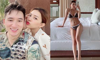 Đi du lịch cùng Phan Mạnh Quỳnh, bạn gái diện bikini nhỏ xíu khoe dáng