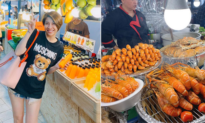 Ca sĩ Pha Lê ăn uống 'ngập mặt' khi đi du lịch Thái Lan