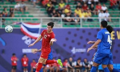 Sửa sai cho Văn Toản, Tiến Linh đánh đầu rút ngắn tỉ số cho U22 Việt Nam