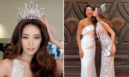 Tân Hoa hậu Khánh Vân hôn má Hoa hậu H'Hen Niê, đáng yêu hết phần thiên hạ