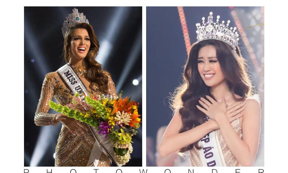 Cư dân mạng bất ngờ khai quật khoảnh khắc tương đồng giữa Miss Universe 2016 và đương kim Hoa hậu Hoàn vũ Việt Nam 2019
