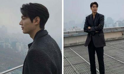 Đi dạo sương sương trên tầng thượng, Lee Min Ho khiến mọi vật đều bị lu mờ vì vẻ đẹp xuất thần