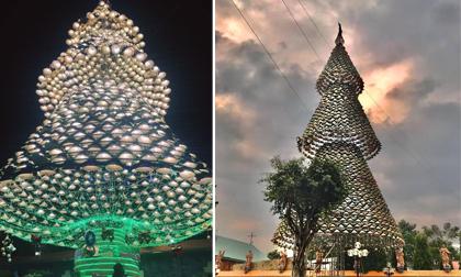 Giáng sinh cận kề, giới trẻ đua nhau check-in cây thông nón lá khổng lồ sát vách Sài Gòn