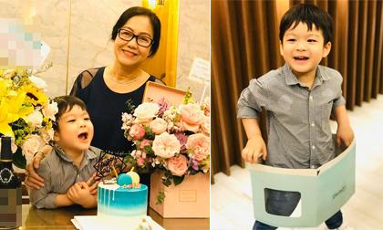 Con trai Nhật Kim Anh bụ bẫm, đáng yêu trong tiệc sinh nhật của bà nội