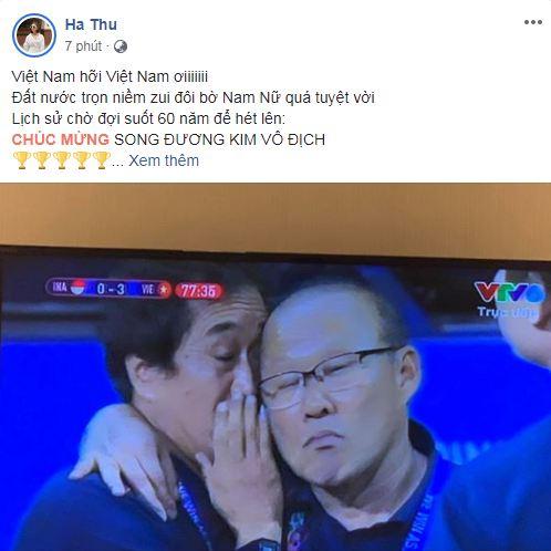 sao Việt ăn mừng Việt Nam đạt huy chương vàng 10