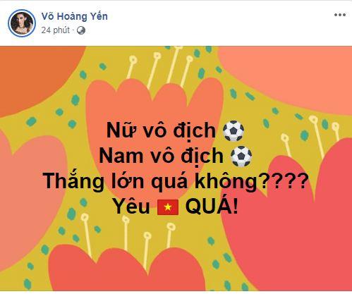 sao Việt ăn mừng Việt Nam đạt huy chương vàng 11