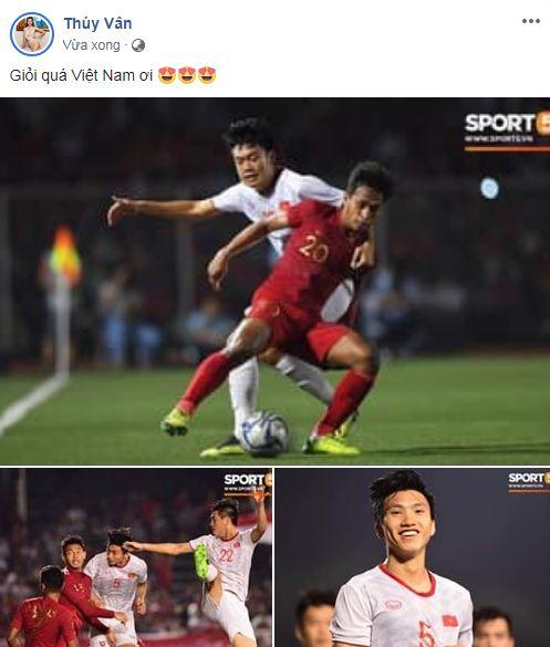 sao Việt ăn mừng Việt Nam đạt huy chương vàng 14