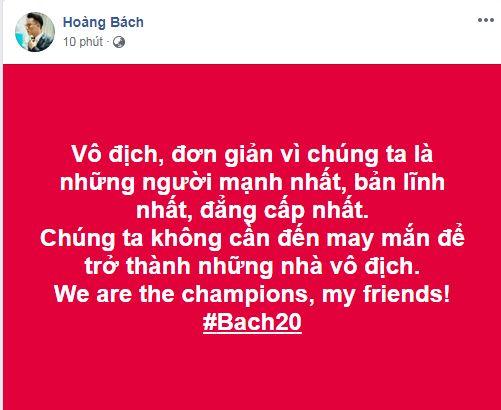 sao Việt ăn mừng Việt Nam đạt huy chương vàng 16