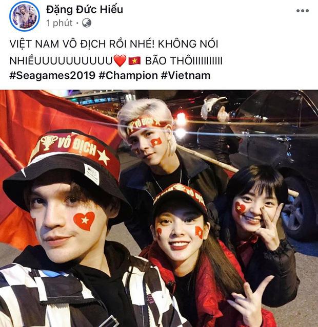 sao Việt ăn mừng Việt Nam đạt huy chương vàng 18