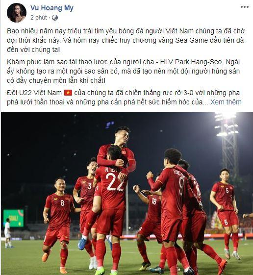 sao Việt ăn mừng Việt Nam đạt huy chương vàng 6