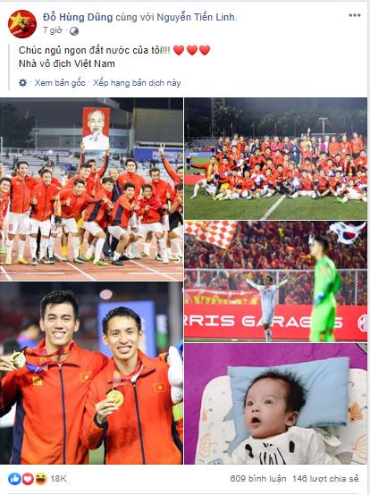 Dàn tuyển thủ U22 hạnh phúc vỡ òa, đồng loạt chia sẻ khi lần đầu tiên vô địch SEA Games 8