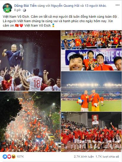 Dàn tuyển thủ U22 hạnh phúc vỡ òa, đồng loạt chia sẻ khi lần đầu tiên vô địch SEA Games 0