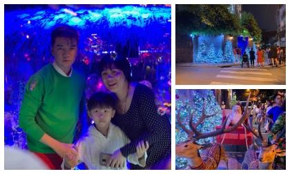 Fan lẫn người dân xếp hàng hơn 1 tiếng chỉ để tham quan nhà Đàm Vĩnh Hưng trang trí ngày giáng sinh
