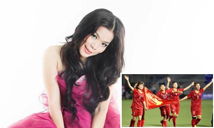Ca sĩ Mỹ Lệ tặng đội tuyển bóng đá nữ Việt Nam 100 triệu đồng