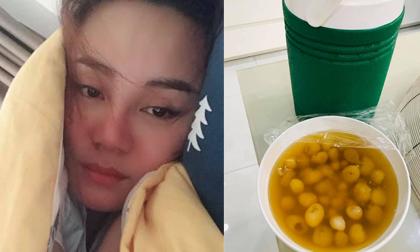 Không chỉ được chồng doanh nhân cưng chìu hết mực, Vy Oanh còn được bố chồng tận tay nấu thức ăn khi bệnh